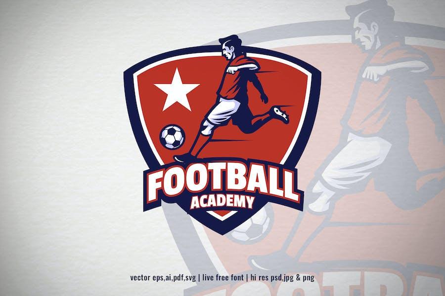 soccer football academy logo