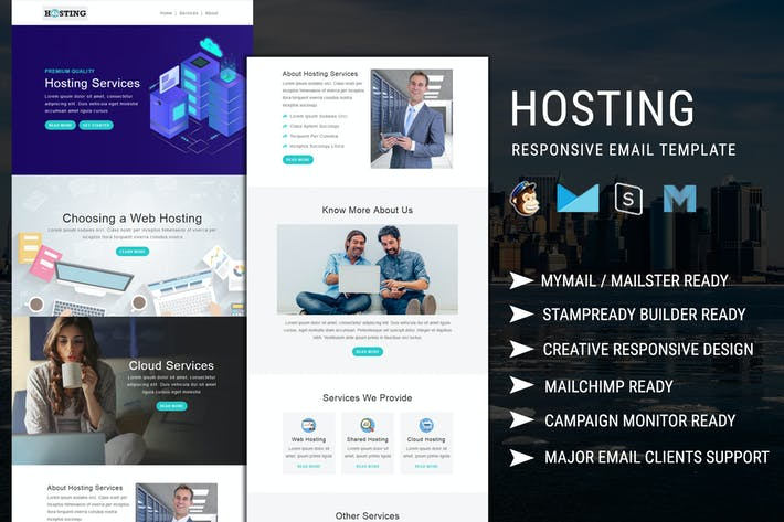 Thumbnail for Hosting - Multipurpose Responsive Email Template