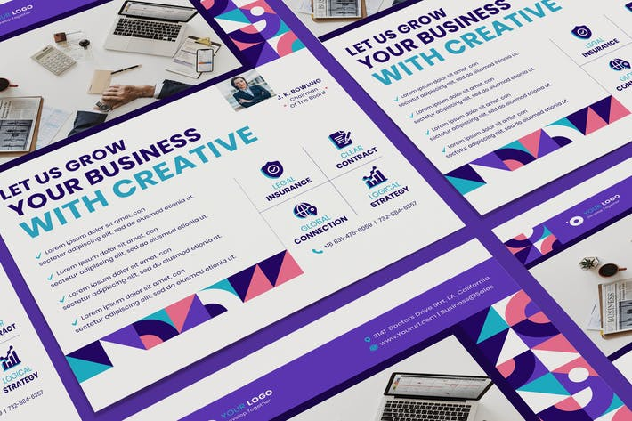 Thumbnail for Corporate, Business Poster PSD Template
