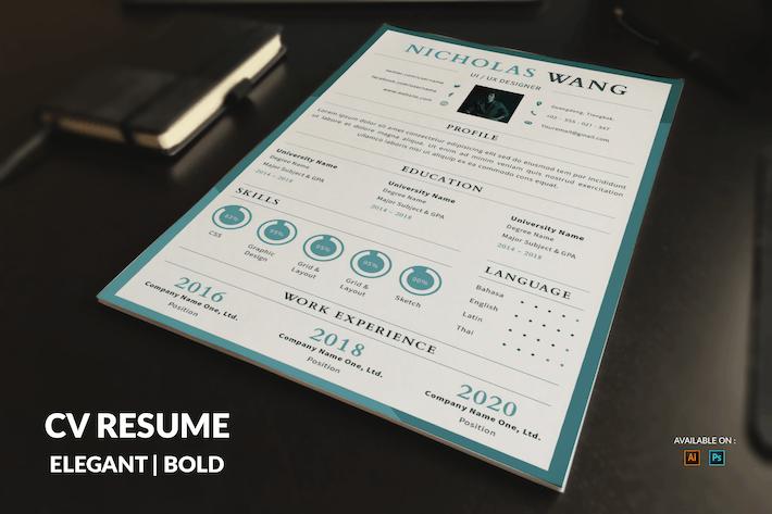 Thumbnail for CV Resume Simple
