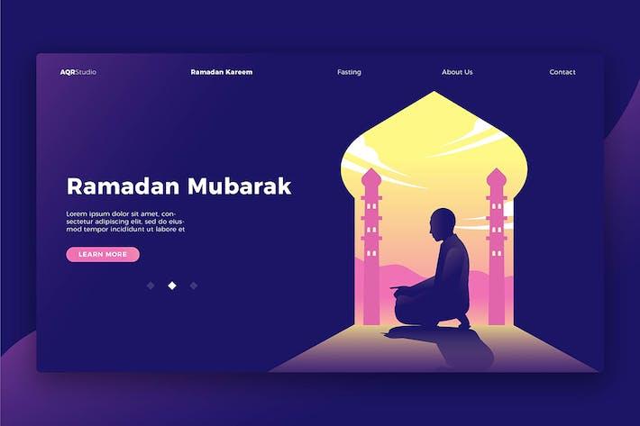 Thumbnail for Ramadan Mubarak - Banner & Landing Page