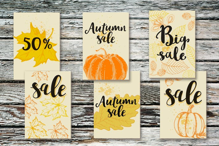 Thumbnail for Autumn Seasonal Sale Tags