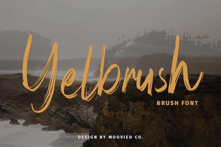 Thumbnail for Yelbrush Brush Font