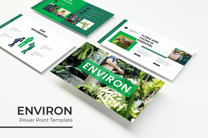Thumbnail for Environ - Powerpoint Template