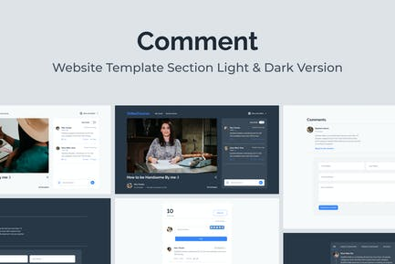 Web Comments Section Template