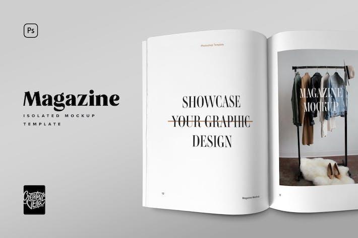 Thumbnail for Minimalistic Magazine Spread Mockup
