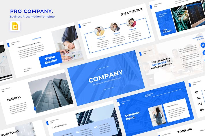 Thumbnail for Pro Company Google Slide Template