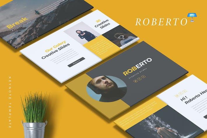 Thumbnail for ROBERTO - Шаблон креативной Keynote
