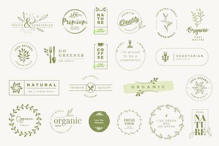 Etiquetas y pegatinas para productos ecológicos