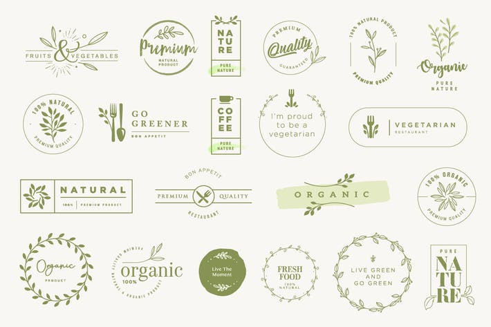 Labels and stickers for organic products