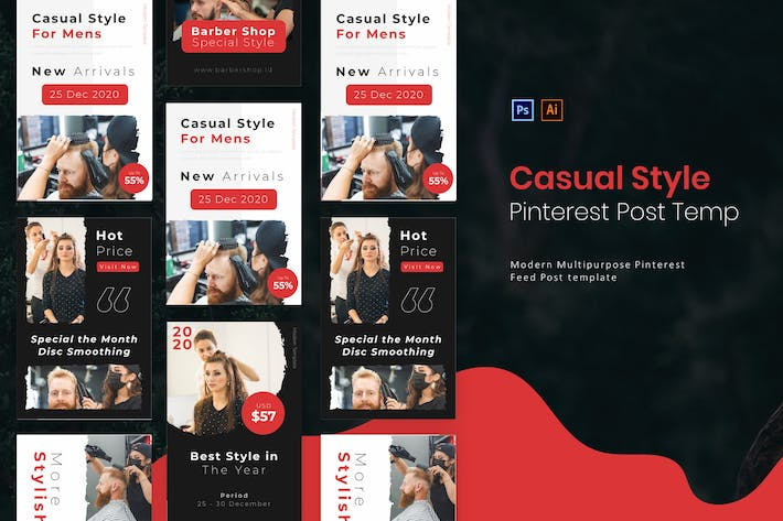 Thumbnail for Casual Style | Pinterest Post Template