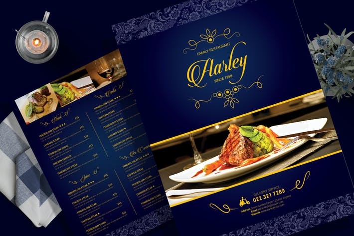 Thumbnail for Elegant Restaurant Menu Flyer