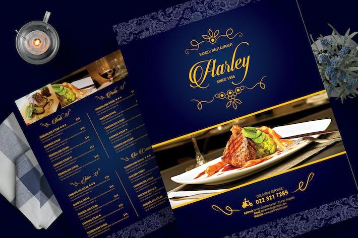 Cover Image For Elegant Restaurant Menu Flyer