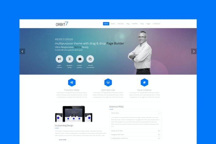 Thumbnail for Orbit7 - Creative Multipurpose HTML5 Template