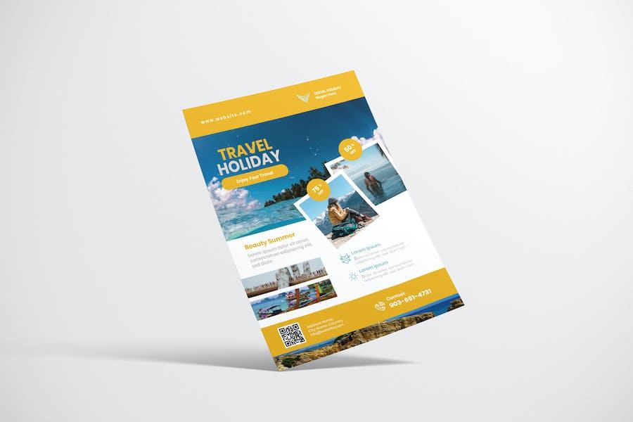 Reise-Flyer Design