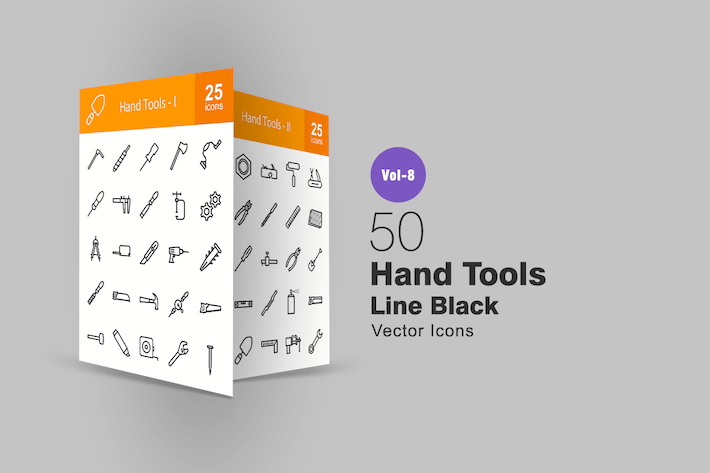 Thumbnail for 50 Hand Tools Line Icons