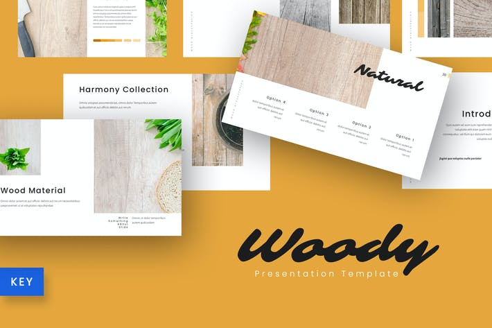 Thumbnail for Woody - Company Keynote Template