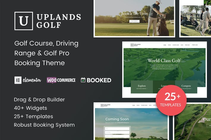 Thumbnail for Uplands - Golf Course WordPress Theme