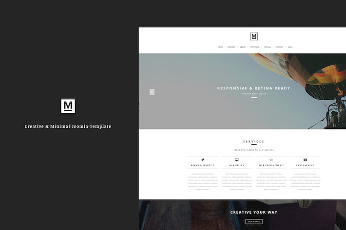 Cover Image For Max - Minimal Joomla Template