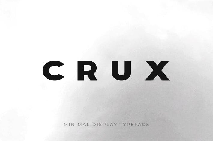 CRUX - Minimal Display / Headline / Logo Typeface