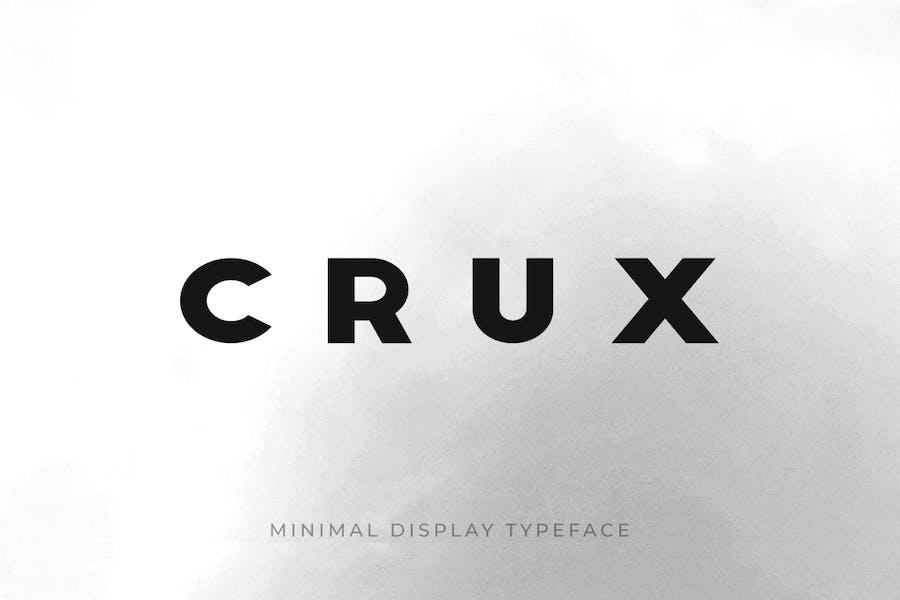 CRUX - Minimal Display / Headline / Logo Typeface