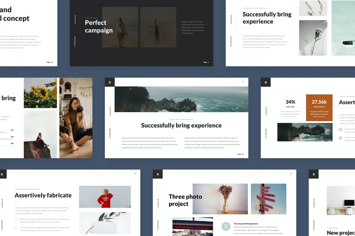 Thumbnail for Clean  Business Presentation PowerPoint Templates