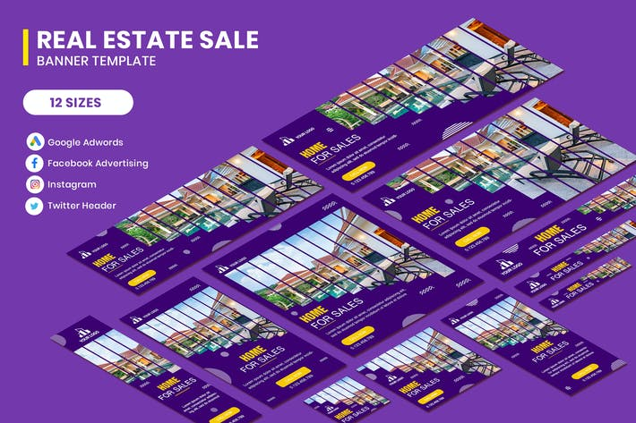 Thumbnail for Real Estate Morden Banner Google Adwords Template