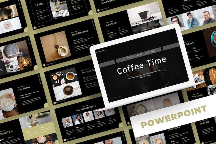Thumbnail for Время кофе - Powerpoint Шаблон