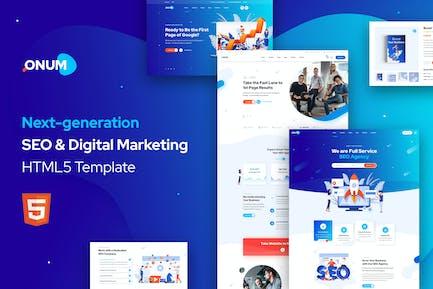 Onum- SEO & Marketing HTML5 Modèle