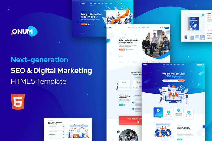 Thumbnail for Onum - SEO & Marketing HTML5 Template