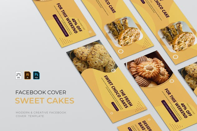 Sweet Cake   Facebook Cover