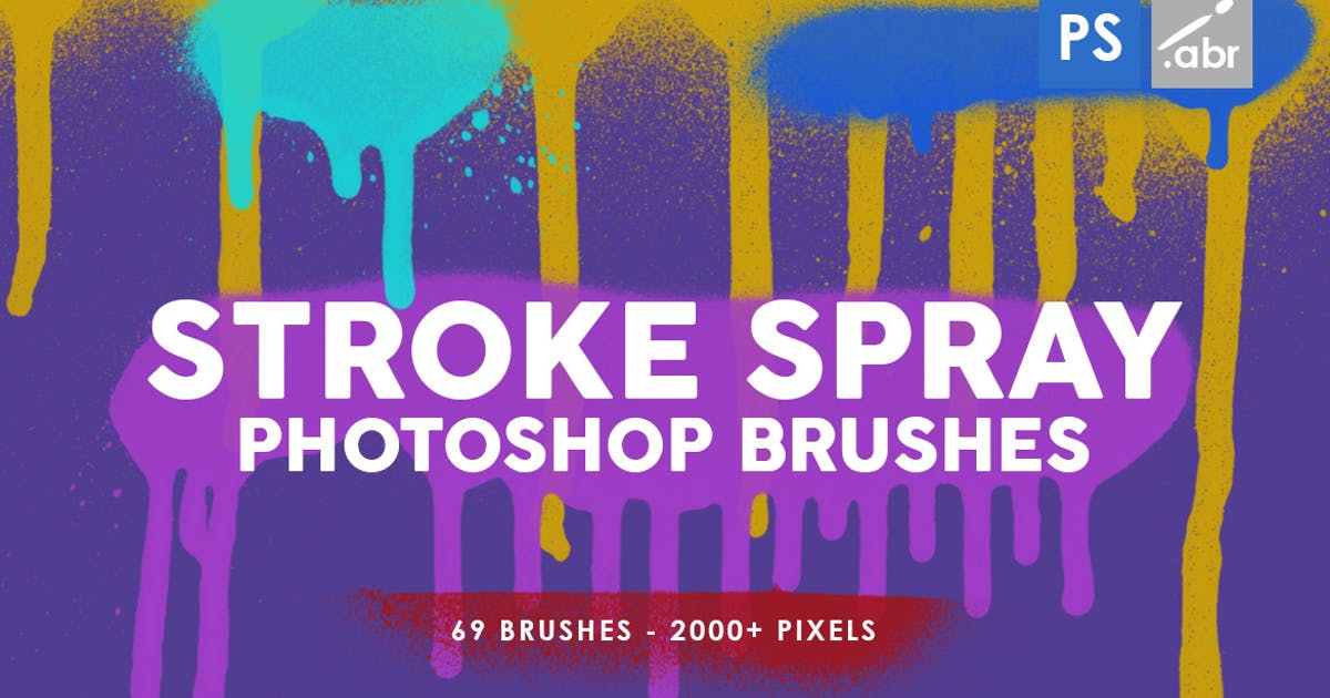 Download 69 Stroke Spray Photoshop Stamp Brushes by M-e-f
