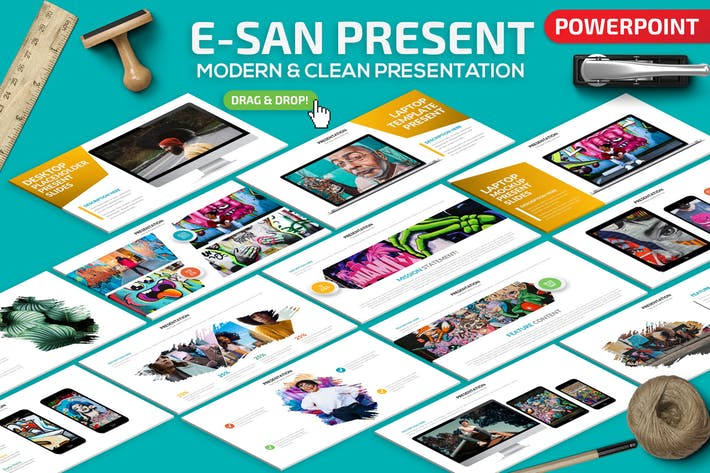 Cover Image For E-San Powerpoint Presentation Template