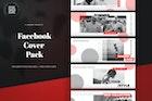 Black & Red Facebook Cover Pack