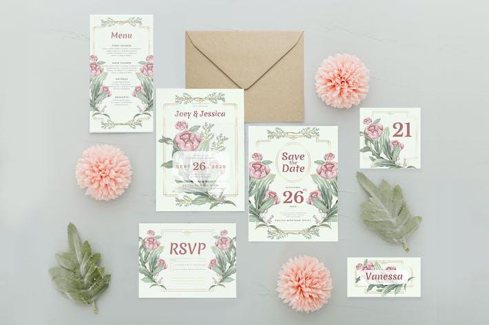 Magnificent Rose - Wedding Invitation