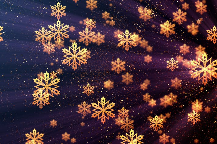 Thumbnail for Christmas Golden Snowflakes