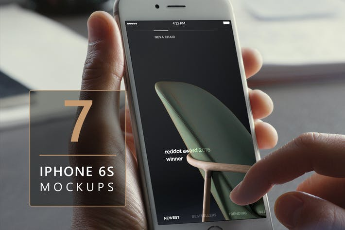 Thumbnail for iPhone 6s Photorealistic Mockups