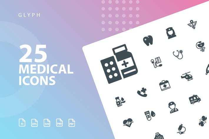Thumbnail for Medical Glyph Icons