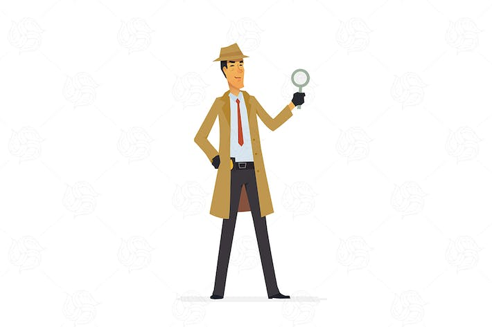 Private detective - vector illustration