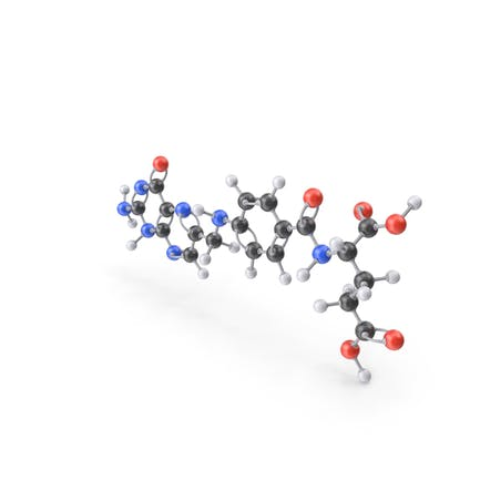 Vitamin B9 (Folic Acid) Molecule
