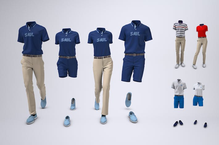 Thumbnail for Yacht Crew Uniform Mock-Up