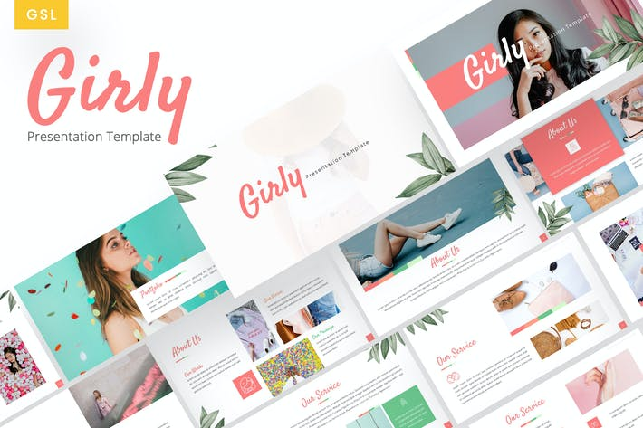 Thumbnail for Girly - Beautiful Google Slides Template
