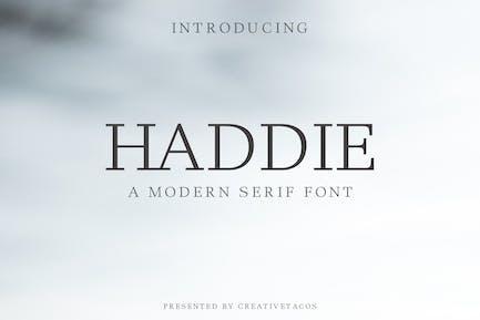 Haddie Modern Serif Font Family