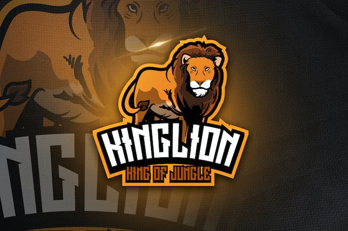 Thumbnail for King Lion - Mascot & Esport Logo