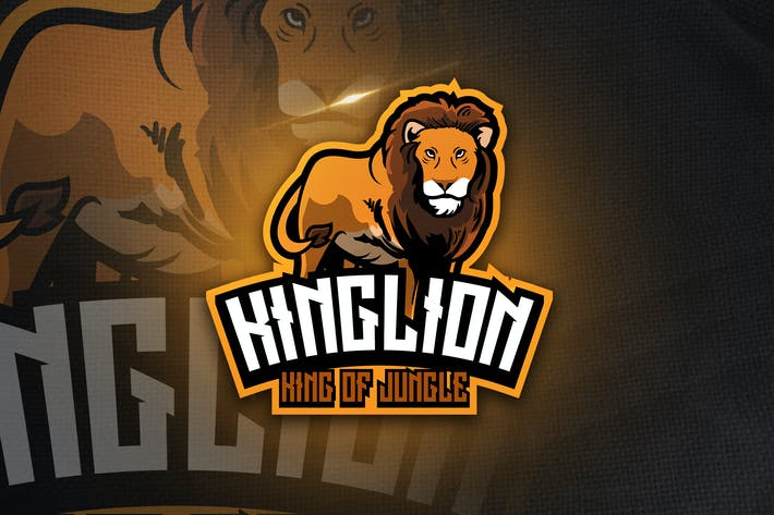 Thumbnail for King Lion - Maskottchen & Esport Logo