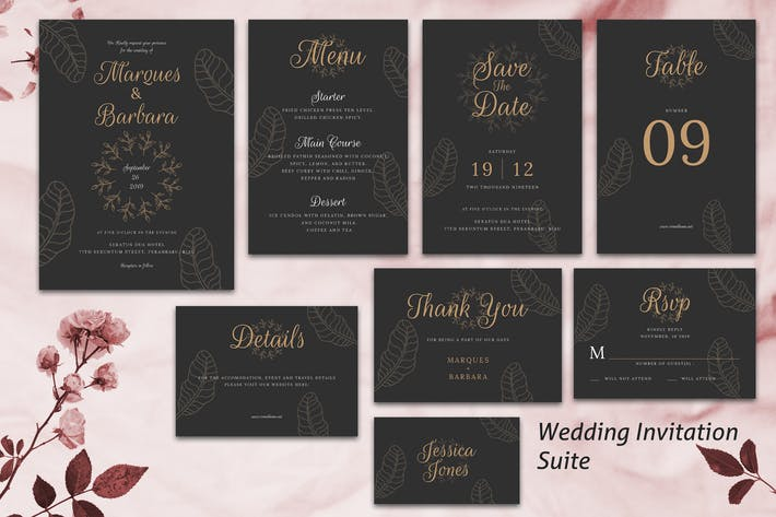 Thumbnail for Wedding Invitation Suite vol. 02