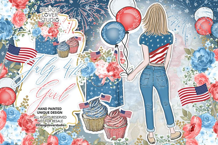 Thumbnail for 4th of July Girl design