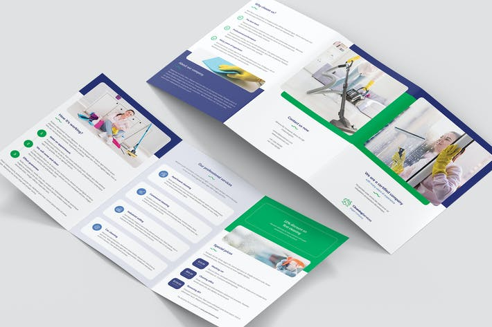Thumbnail for Brochure – Cleaning Service Tri-Fold A5