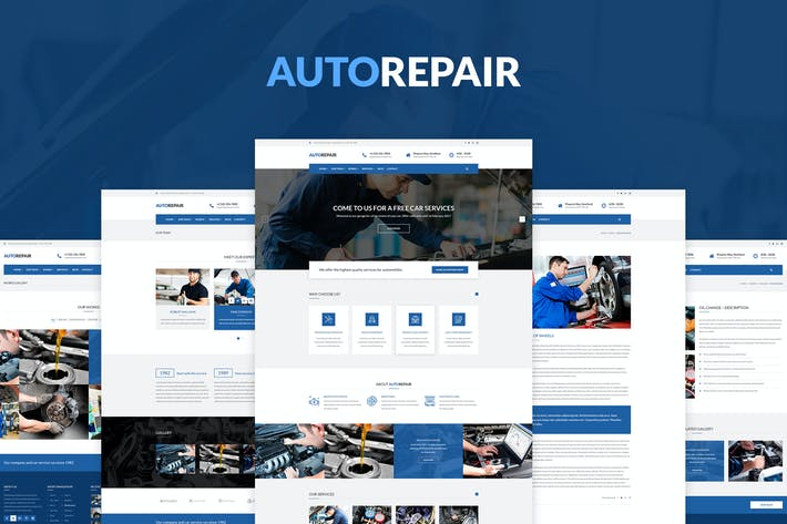 Thumbnail for AutoRepair – Car Mechanic – PSD Template
