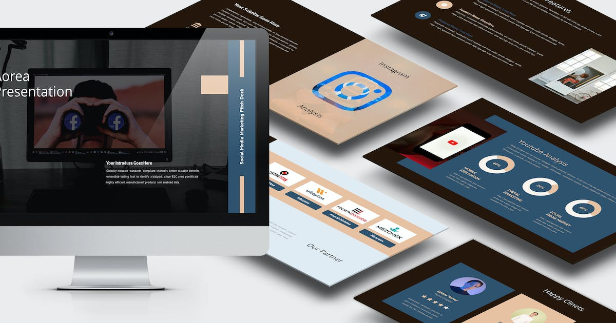 Download Aorea : Socmed Marketing Pitch Deck Powerpoint by punkl